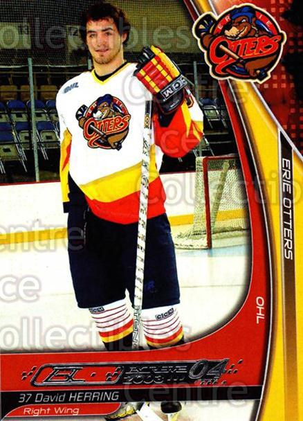 2003-04 Erie Otters #10 David Herring<br/>2 In Stock - $3.00 each - <a href=https://centericecollectibles.foxycart.com/cart?name=2003-04%20Erie%20Otters%20%2310%20David%20Herring...&price=$3.00&code=641028 class=foxycart> Buy it now! </a>
