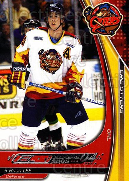 2003-04 Erie Otters #13 Brian Lee<br/>2 In Stock - $3.00 each - <a href=https://centericecollectibles.foxycart.com/cart?name=2003-04%20Erie%20Otters%20%2313%20Brian%20Lee...&price=$3.00&code=641030 class=foxycart> Buy it now! </a>