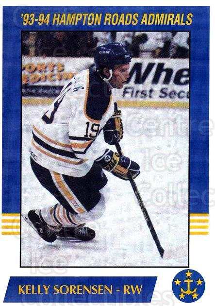 1993-94 Hampton Roads Admirals #17 Kelly Sorenson<br/>4 In Stock - $3.00 each - <a href=https://centericecollectibles.foxycart.com/cart?name=1993-94%20Hampton%20Roads%20Admirals%20%2317%20Kelly%20Sorenson...&quantity_max=4&price=$3.00&code=641050 class=foxycart> Buy it now! </a>