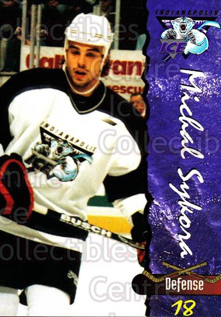 1997-98 Indianapolis Ice #23 Michal Sykora<br/>3 In Stock - $3.00 each - <a href=https://centericecollectibles.foxycart.com/cart?name=1997-98%20Indianapolis%20Ice%20%2323%20Michal%20Sykora...&quantity_max=3&price=$3.00&code=641071 class=foxycart> Buy it now! </a>