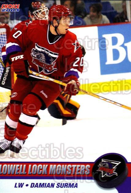 2003-04 Lowell Lock Monsters #7 Damian Surma<br/>3 In Stock - $3.00 each - <a href=https://centericecollectibles.foxycart.com/cart?name=2003-04%20Lowell%20Lock%20Monsters%20%237%20Damian%20Surma...&quantity_max=3&price=$3.00&code=641161 class=foxycart> Buy it now! </a>