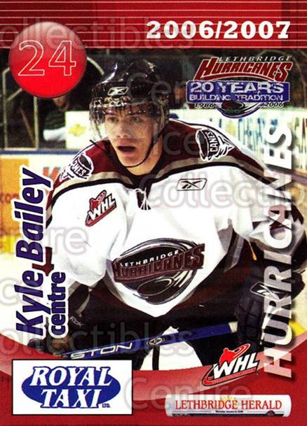 2006-07 Lethbridge Hurricanes #1 Kyle Bailey<br/>1 In Stock - $3.00 each - <a href=https://centericecollectibles.foxycart.com/cart?name=2006-07%20Lethbridge%20Hurricanes%20%231%20Kyle%20Bailey...&quantity_max=1&price=$3.00&code=641203 class=foxycart> Buy it now! </a>