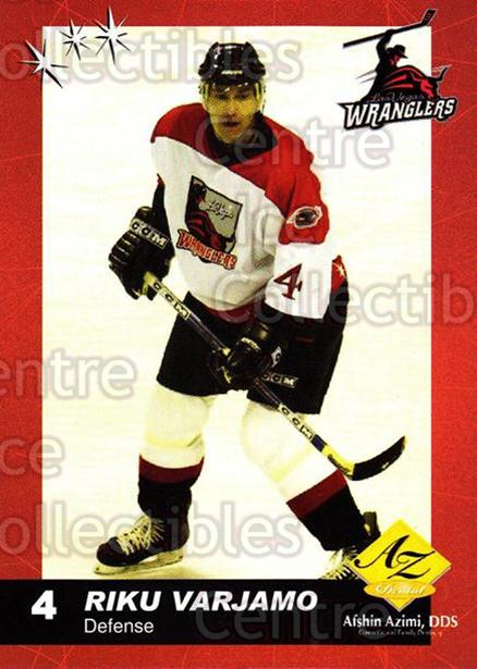 2003-04 Las Vegas Wranglers #19 Riku Varjamo<br/>2 In Stock - $3.00 each - <a href=https://centericecollectibles.foxycart.com/cart?name=2003-04%20Las%20Vegas%20Wranglers%20%2319%20Riku%20Varjamo...&quantity_max=2&price=$3.00&code=641239 class=foxycart> Buy it now! </a>