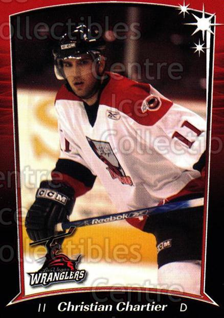 2004-05 Las Vegas Wranglers #6 Christian Chartier<br/>1 In Stock - $3.00 each - <a href=https://centericecollectibles.foxycart.com/cart?name=2004-05%20Las%20Vegas%20Wranglers%20%236%20Christian%20Chart...&quantity_max=1&price=$3.00&code=641241 class=foxycart> Buy it now! </a>