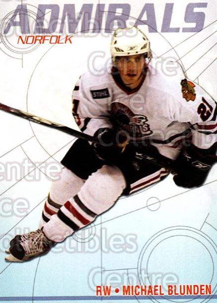2006-07 Norfolk Admirals #19 Michael Blunden<br/>1 In Stock - $3.00 each - <a href=https://centericecollectibles.foxycart.com/cart?name=2006-07%20Norfolk%20Admirals%20%2319%20Michael%20Blunden...&price=$3.00&code=641267 class=foxycart> Buy it now! </a>