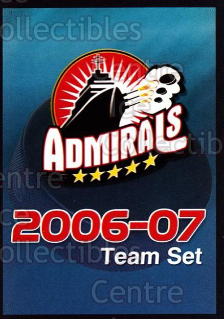 2006-07 Norfolk Admirals #29 Checklist, Header Card<br/>1 In Stock - $3.00 each - <a href=https://centericecollectibles.foxycart.com/cart?name=2006-07%20Norfolk%20Admirals%20%2329%20Checklist,%20Head...&price=$3.00&code=641277 class=foxycart> Buy it now! </a>
