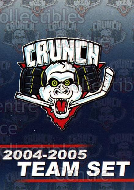 2004-05 Syracuse Crunch #1 Checklist, Header Card<br/>1 In Stock - $3.00 each - <a href=https://centericecollectibles.foxycart.com/cart?name=2004-05%20Syracuse%20Crunch%20%231%20Checklist,%20Head...&price=$3.00&code=641280 class=foxycart> Buy it now! </a>