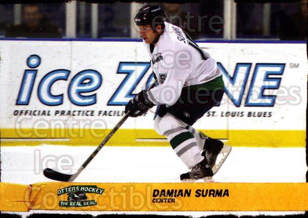 2005-06 Missouri River Otters #21 Damian Surma<br/>1 In Stock - $3.00 each - <a href=https://centericecollectibles.foxycart.com/cart?name=2005-06%20Missouri%20River%20Otters%20%2321%20Damian%20Surma...&quantity_max=1&price=$3.00&code=641324 class=foxycart> Buy it now! </a>