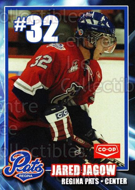 2006-07 Regina Pats #9 Jared Jagow<br/>13 In Stock - $3.00 each - <a href=https://centericecollectibles.foxycart.com/cart?name=2006-07%20Regina%20Pats%20%239%20Jared%20Jagow...&quantity_max=13&price=$3.00&code=641385 class=foxycart> Buy it now! </a>