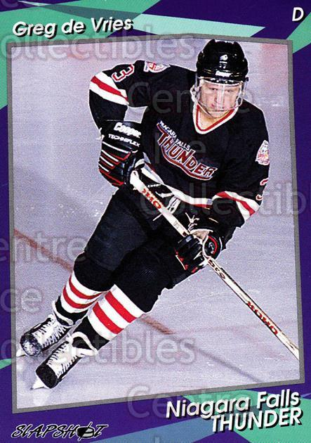 1993-94 Niagara Falls Thunder #5 Greg De Vries<br/>2 In Stock - $3.00 each - <a href=https://centericecollectibles.foxycart.com/cart?name=1993-94%20Niagara%20Falls%20Thunder%20%235%20Greg%20De%20Vries...&quantity_max=2&price=$3.00&code=6415 class=foxycart> Buy it now! </a>