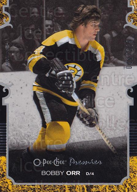 2007-08 O-pee-chee Premier #4 Bobby Orr<br/>1 In Stock - $15.00 each - <a href=https://centericecollectibles.foxycart.com/cart?name=2007-08%20O-pee-chee%20Premier%20%234%20Bobby%20Orr...&quantity_max=1&price=$15.00&code=642177 class=foxycart> Buy it now! </a>