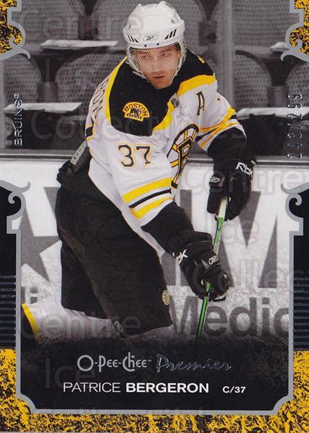 2007-08 O-pee-chee Premier #37 Patrice Bergeron<br/>1 In Stock - $5.00 each - <a href=https://centericecollectibles.foxycart.com/cart?name=2007-08%20O-pee-chee%20Premier%20%2337%20Patrice%20Bergero...&quantity_max=1&price=$5.00&code=642210 class=foxycart> Buy it now! </a>