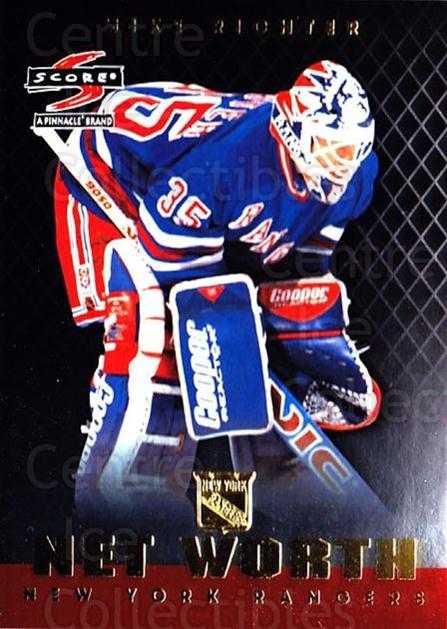 1997-98 Score Net Worth #6 Mike Richter<br/>7 In Stock - $3.00 each - <a href=https://centericecollectibles.foxycart.com/cart?name=1997-98%20Score%20Net%20Worth%20%236%20Mike%20Richter...&quantity_max=7&price=$3.00&code=64227 class=foxycart> Buy it now! </a>