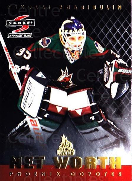 1997-98 Score Net Worth #9 Nikolai Khabibulin<br/>1 In Stock - $3.00 each - <a href=https://centericecollectibles.foxycart.com/cart?name=1997-98%20Score%20Net%20Worth%20%239%20Nikolai%20Khabibu...&quantity_max=1&price=$3.00&code=64229 class=foxycart> Buy it now! </a>