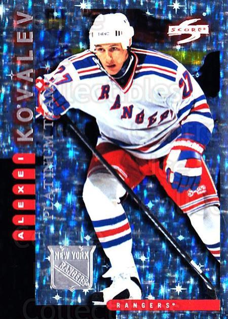 1997-98 Score New York Rangers Platinum #7 Alexei Kovalev<br/>1 In Stock - $5.00 each - <a href=https://centericecollectibles.foxycart.com/cart?name=1997-98%20Score%20New%20York%20Rangers%20Platinum%20%237%20Alexei%20Kovalev...&quantity_max=1&price=$5.00&code=64247 class=foxycart> Buy it now! </a>