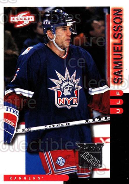 1997-98 Score New York Rangers #15 Ulf Samuelsson<br/>9 In Stock - $2.00 each - <a href=https://centericecollectibles.foxycart.com/cart?name=1997-98%20Score%20New%20York%20Rangers%20%2315%20Ulf%20Samuelsson...&quantity_max=9&price=$2.00&code=64265 class=foxycart> Buy it now! </a>