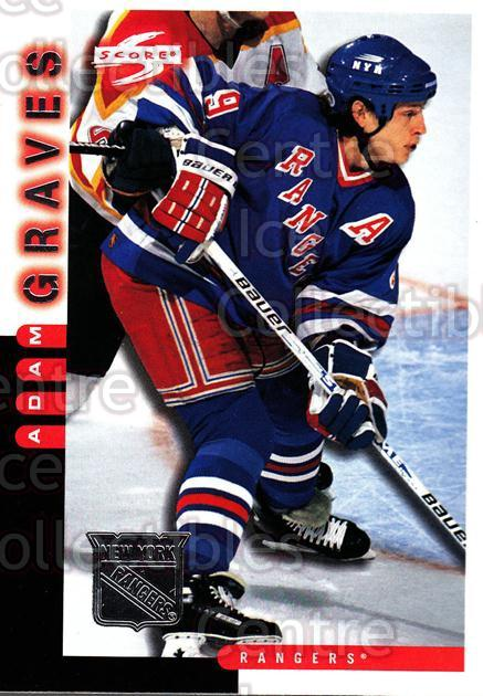 1997-98 Score New York Rangers #4 Adam Graves<br/>7 In Stock - $2.00 each - <a href=https://centericecollectibles.foxycart.com/cart?name=1997-98%20Score%20New%20York%20Rangers%20%234%20Adam%20Graves...&quantity_max=7&price=$2.00&code=64272 class=foxycart> Buy it now! </a>