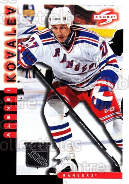 1997-98 Score New York Rangers #7 Alexei Kovalev<br/>8 In Stock - $2.00 each - <a href=https://centericecollectibles.foxycart.com/cart?name=1997-98%20Score%20New%20York%20Rangers%20%237%20Alexei%20Kovalev...&quantity_max=8&price=$2.00&code=64275 class=foxycart> Buy it now! </a>