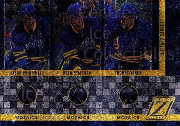 2010-11 Zenith Mozaics #3 Thomas Vanek, Jason Pominville, Drew Stafford<br/>2 In Stock - $3.00 each - <a href=https://centericecollectibles.foxycart.com/cart?name=2010-11%20Zenith%20Mozaics%20%233%20Thomas%20Vanek,%20J...&quantity_max=2&price=$3.00&code=642925 class=foxycart> Buy it now! </a>