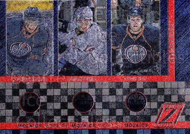 2010-11 Zenith Mozaics #9 Jordan Eberle, Taylor Hall, Magnus Paajarvi<br/>1 In Stock - $3.00 each - <a href=https://centericecollectibles.foxycart.com/cart?name=2010-11%20Zenith%20Mozaics%20%239%20Jordan%20Eberle,%20...&quantity_max=1&price=$3.00&code=642931 class=foxycart> Buy it now! </a>