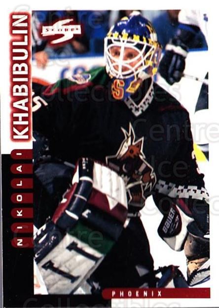 1997-98 Score #10 Nikolai Khabibulin<br/>3 In Stock - $1.00 each - <a href=https://centericecollectibles.foxycart.com/cart?name=1997-98%20Score%20%2310%20Nikolai%20Khabibu...&quantity_max=3&price=$1.00&code=64303 class=foxycart> Buy it now! </a>