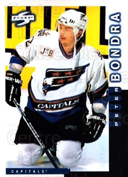 1997-98 Score #103 Peter Bondra<br/>4 In Stock - $1.00 each - <a href=https://centericecollectibles.foxycart.com/cart?name=1997-98%20Score%20%23103%20Peter%20Bondra...&quantity_max=4&price=$1.00&code=64307 class=foxycart> Buy it now! </a>