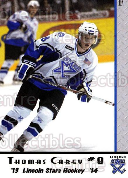 2013-14 Lincoln Stars #7 Thomas Carey<br/>4 In Stock - $3.00 each - <a href=https://centericecollectibles.foxycart.com/cart?name=2013-14%20Lincoln%20Stars%20%237%20Thomas%20Carey...&quantity_max=4&price=$3.00&code=643128 class=foxycart> Buy it now! </a>