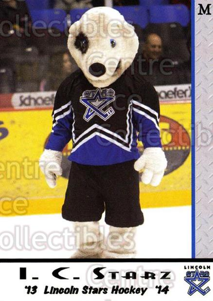 2013-14 Lincoln Stars #28 Mascot<br/>4 In Stock - $3.00 each - <a href=https://centericecollectibles.foxycart.com/cart?name=2013-14%20Lincoln%20Stars%20%2328%20Mascot...&quantity_max=4&price=$3.00&code=643149 class=foxycart> Buy it now! </a>