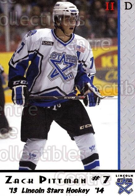 2013-14 Lincoln Stars #33 Zack Pittman<br/>2 In Stock - $3.00 each - <a href=https://centericecollectibles.foxycart.com/cart?name=2013-14%20Lincoln%20Stars%20%2333%20Zack%20Pittman...&quantity_max=2&price=$3.00&code=643154 class=foxycart> Buy it now! </a>