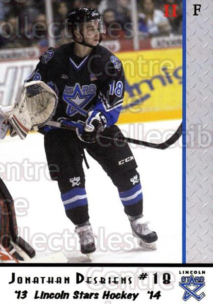 2013-14 Lincoln Stars #43 Jonathan Desbiens<br/>2 In Stock - $3.00 each - <a href=https://centericecollectibles.foxycart.com/cart?name=2013-14%20Lincoln%20Stars%20%2343%20Jonathan%20Desbie...&quantity_max=2&price=$3.00&code=643164 class=foxycart> Buy it now! </a>