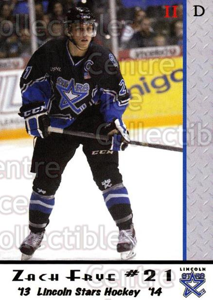 2013-14 Lincoln Stars #46 Zach Frye<br/>2 In Stock - $3.00 each - <a href=https://centericecollectibles.foxycart.com/cart?name=2013-14%20Lincoln%20Stars%20%2346%20Zach%20Frye...&quantity_max=2&price=$3.00&code=643167 class=foxycart> Buy it now! </a>