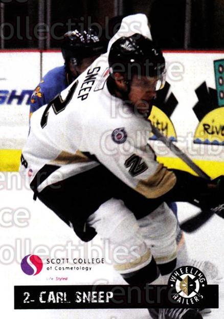 2012-13 Wheeling Nailers Giveaway #20 Carl Sneep<br/>2 In Stock - $3.00 each - <a href=https://centericecollectibles.foxycart.com/cart?name=2012-13%20Wheeling%20Nailers%20Giveaway%20%2320%20Carl%20Sneep...&quantity_max=2&price=$3.00&code=643215 class=foxycart> Buy it now! </a>