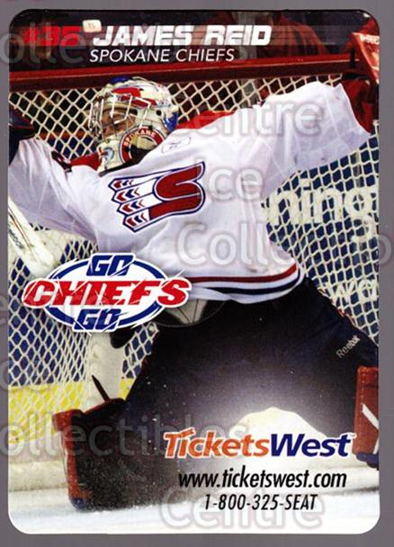 2010-11 Spokane Chiefs Magnets #12 James Reid<br/>1 In Stock - $3.00 each - <a href=https://centericecollectibles.foxycart.com/cart?name=2010-11%20Spokane%20Chiefs%20Magnets%20%2312%20James%20Reid...&quantity_max=1&price=$3.00&code=643236 class=foxycart> Buy it now! </a>