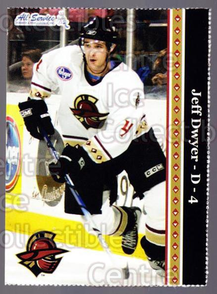 2005-06 Gwinnett Gladiators #1 Jeff Dwyer<br/>1 In Stock - $3.00 each - <a href=https://centericecollectibles.foxycart.com/cart?name=2005-06%20Gwinnett%20Gladiators%20%231%20Jeff%20Dwyer...&quantity_max=1&price=$3.00&code=643237 class=foxycart> Buy it now! </a>