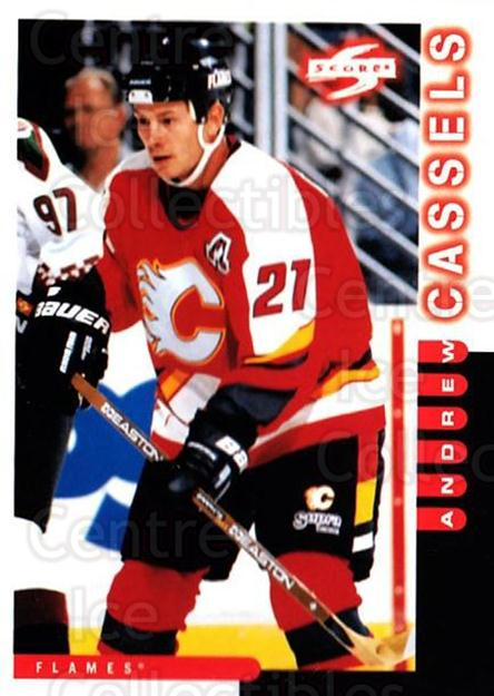 1997-98 Score #134 Andrew Cassels<br/>4 In Stock - $1.00 each - <a href=https://centericecollectibles.foxycart.com/cart?name=1997-98%20Score%20%23134%20Andrew%20Cassels...&quantity_max=4&price=$1.00&code=64323 class=foxycart> Buy it now! </a>