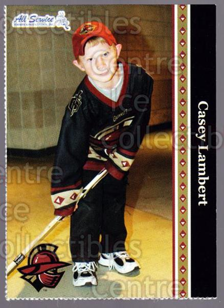 2005-06 Gwinnett Gladiators #18 Casey Lambert<br/>1 In Stock - $3.00 each - <a href=https://centericecollectibles.foxycart.com/cart?name=2005-06%20Gwinnett%20Gladiators%20%2318%20Casey%20Lambert...&quantity_max=1&price=$3.00&code=643254 class=foxycart> Buy it now! </a>