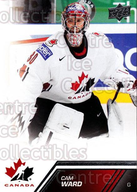 2013-14 Upper Deck Team Canada #1 Cam Ward<br/>5 In Stock - $1.00 each - <a href=https://centericecollectibles.foxycart.com/cart?name=2013-14%20Upper%20Deck%20Team%20Canada%20%231%20Cam%20Ward...&price=$1.00&code=643386 class=foxycart> Buy it now! </a>