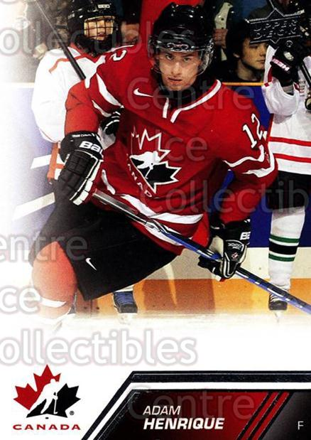 2013-14 Upper Deck Team Canada #2 Adam Henrique<br/>7 In Stock - $1.00 each - <a href=https://centericecollectibles.foxycart.com/cart?name=2013-14%20Upper%20Deck%20Team%20Canada%20%232%20Adam%20Henrique...&quantity_max=7&price=$1.00&code=643387 class=foxycart> Buy it now! </a>