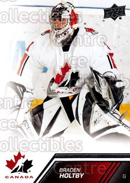 2013-14 Upper Deck Team Canada #14 Braden Holtby<br/>6 In Stock - $1.00 each - <a href=https://centericecollectibles.foxycart.com/cart?name=2013-14%20Upper%20Deck%20Team%20Canada%20%2314%20Braden%20Holtby...&quantity_max=6&price=$1.00&code=643399 class=foxycart> Buy it now! </a>