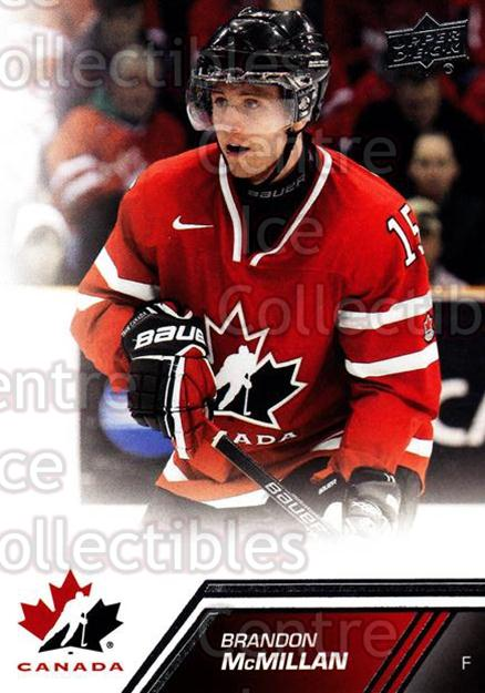 2013-14 Upper Deck Team Canada #15 Brandon McMillan<br/>4 In Stock - $1.00 each - <a href=https://centericecollectibles.foxycart.com/cart?name=2013-14%20Upper%20Deck%20Team%20Canada%20%2315%20Brandon%20McMilla...&quantity_max=4&price=$1.00&code=643400 class=foxycart> Buy it now! </a>