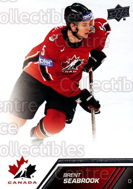 2013-14 Upper Deck Team Canada #20 Brent Seabrook<br/>6 In Stock - $1.00 each - <a href=https://centericecollectibles.foxycart.com/cart?name=2013-14%20Upper%20Deck%20Team%20Canada%20%2320%20Brent%20Seabrook...&quantity_max=6&price=$1.00&code=643405 class=foxycart> Buy it now! </a>