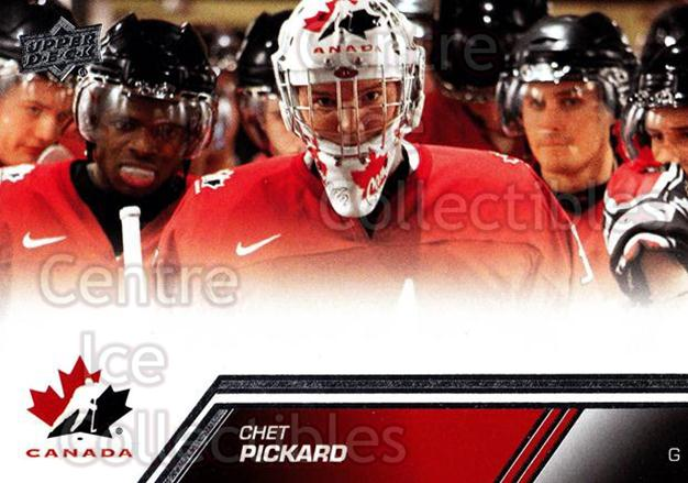 2013-14 Upper Deck Team Canada #26 Chet Pickard<br/>3 In Stock - $1.00 each - <a href=https://centericecollectibles.foxycart.com/cart?name=2013-14%20Upper%20Deck%20Team%20Canada%20%2326%20Chet%20Pickard...&quantity_max=3&price=$1.00&code=643411 class=foxycart> Buy it now! </a>
