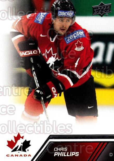 2013-14 Upper Deck Team Canada #27 Chris Phillips<br/>6 In Stock - $1.00 each - <a href=https://centericecollectibles.foxycart.com/cart?name=2013-14%20Upper%20Deck%20Team%20Canada%20%2327%20Chris%20Phillips...&quantity_max=6&price=$1.00&code=643412 class=foxycart> Buy it now! </a>