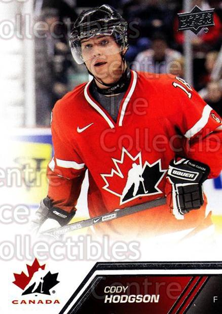 2013-14 Upper Deck Team Canada #32 Cody Hodgson<br/>7 In Stock - $1.00 each - <a href=https://centericecollectibles.foxycart.com/cart?name=2013-14%20Upper%20Deck%20Team%20Canada%20%2332%20Cody%20Hodgson...&quantity_max=7&price=$1.00&code=643417 class=foxycart> Buy it now! </a>