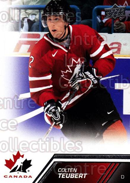 2013-14 Upper Deck Team Canada #34 Colten Teubert<br/>5 In Stock - $1.00 each - <a href=https://centericecollectibles.foxycart.com/cart?name=2013-14%20Upper%20Deck%20Team%20Canada%20%2334%20Colten%20Teubert...&quantity_max=5&price=$1.00&code=643419 class=foxycart> Buy it now! </a>