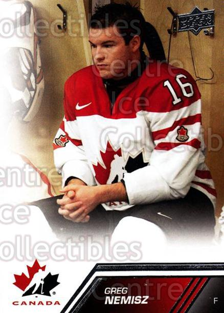 2013-14 Upper Deck Team Canada #44 Greg Nemisz<br/>7 In Stock - $1.00 each - <a href=https://centericecollectibles.foxycart.com/cart?name=2013-14%20Upper%20Deck%20Team%20Canada%20%2344%20Greg%20Nemisz...&quantity_max=7&price=$1.00&code=643429 class=foxycart> Buy it now! </a>