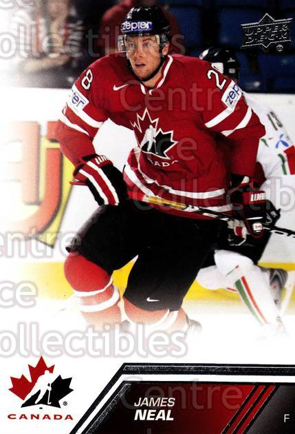 2013-14 Upper Deck Team Canada #47 James Neal<br/>7 In Stock - $1.00 each - <a href=https://centericecollectibles.foxycart.com/cart?name=2013-14%20Upper%20Deck%20Team%20Canada%20%2347%20James%20Neal...&quantity_max=7&price=$1.00&code=643432 class=foxycart> Buy it now! </a>