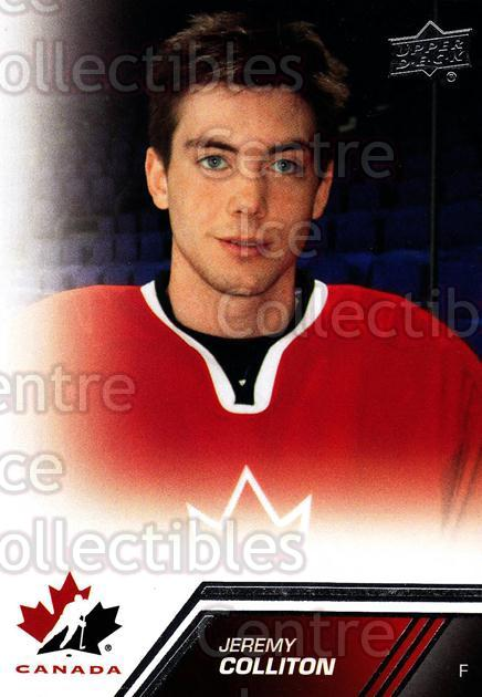 2013-14 Upper Deck Team Canada #53 Jeremy Colliton<br/>5 In Stock - $1.00 each - <a href=https://centericecollectibles.foxycart.com/cart?name=2013-14%20Upper%20Deck%20Team%20Canada%20%2353%20Jeremy%20Colliton...&quantity_max=5&price=$1.00&code=643438 class=foxycart> Buy it now! </a>
