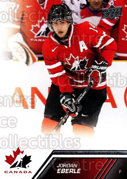 2013-14 Upper Deck Team Canada #55 Jordan Eberle<br/>1 In Stock - $1.00 each - <a href=https://centericecollectibles.foxycart.com/cart?name=2013-14%20Upper%20Deck%20Team%20Canada%20%2355%20Jordan%20Eberle...&quantity_max=1&price=$1.00&code=643440 class=foxycart> Buy it now! </a>