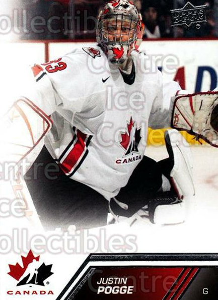 2013-14 Upper Deck Team Canada #56 Justin Pogge<br/>3 In Stock - $1.00 each - <a href=https://centericecollectibles.foxycart.com/cart?name=2013-14%20Upper%20Deck%20Team%20Canada%20%2356%20Justin%20Pogge...&quantity_max=3&price=$1.00&code=643441 class=foxycart> Buy it now! </a>